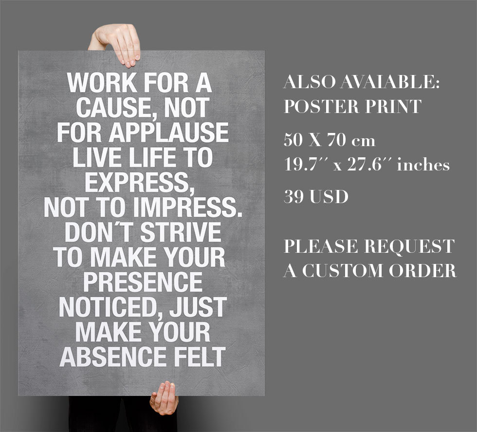 Work For a Cause Quote Sticker Text Home Decor