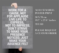 Work For a Cause Quote Sticker Text Home Decor ...