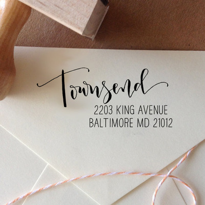 custom calligraphy address stamps