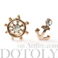 Dotoly Plus | Small Anchor and Wheel Nautical Stud ...