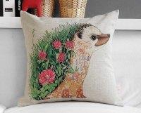 Hedgehog Pillow Case Cushion Cover Decorative Japan Ukiyoe ...