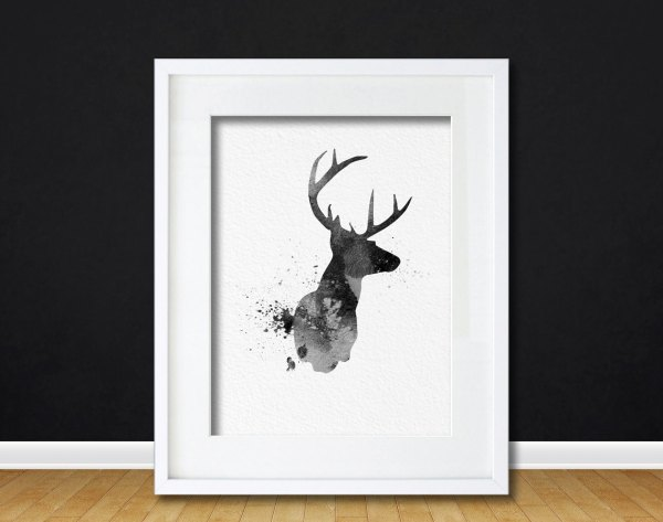 Deer Head Wall Art Prints