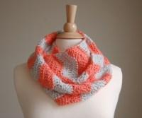 Handmade Crochet Infinity Scarf Chevron  Pixanoodle ...