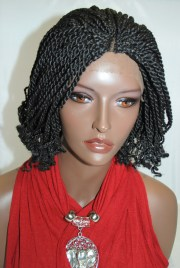 braided lace front wig kinky twists