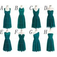 Teal bridesmaid dresses, cheap bridesmaid dress, prom ...