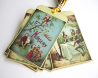 Mother Goose Children Fairytale Storybook Tags, Vintage ...