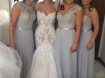Chiffon bridesmaid dresses, mismatched bridesmaid dresses ...