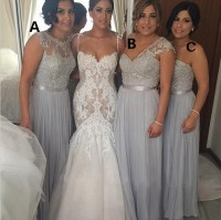 Chiffon bridesmaid dresses, mismatched bridesmaid dresses