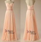 Chiffon Prom Dress Apricot Long