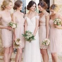Cap Sleeve Lace Bridesmaid Dress, V-neck Short Bridesmaid ...