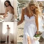 Summer Beach Lace Wedding Dress
