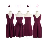 Maroon bridesmaid dresses, short bridesmaid dresses, cheap ...