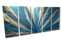 Radiance Teal 36x79 - Metal Wall Art Abstract Sculpture ...