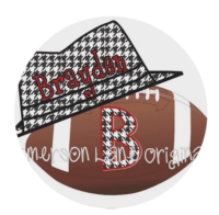 Personalized Houndstooth Football Plate