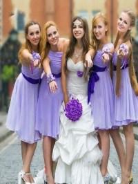 Short Bridesmaid Dress, Lavender bridesmaid dress,One ...