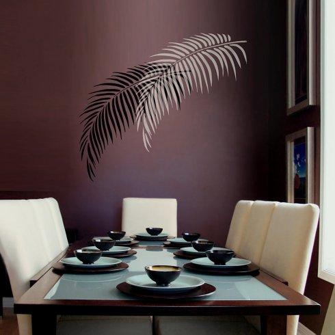 Palm Frond Stencil  Tropical Wall Art Design for an Easy