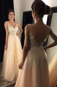 Amazing Prom Dress V Neckline, Graduation Party Dresses ...