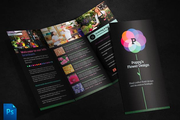 Flower Shop Brochure Template  Brochure Templates on