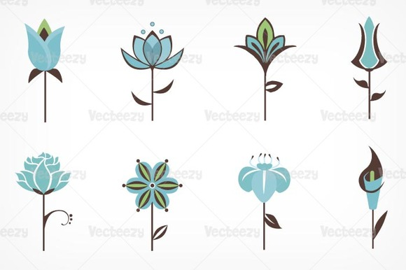 Abstract Flower Vector Pack Illustrations on Creative Market