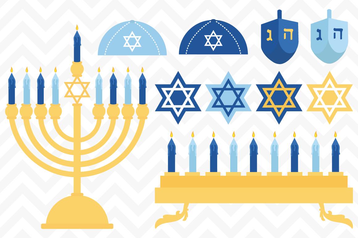 clip art jewish hanukkah vectors