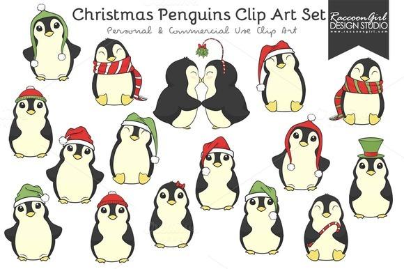 merry christmas penguins designtube