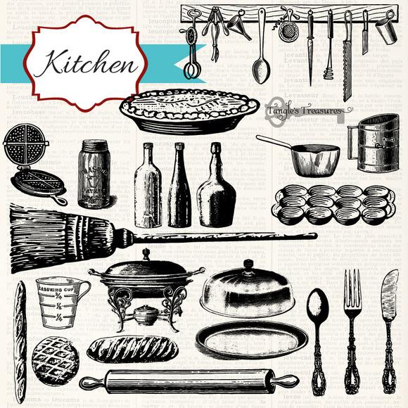 Free Photoshop Brushes Kitchen Utensils » Designtube