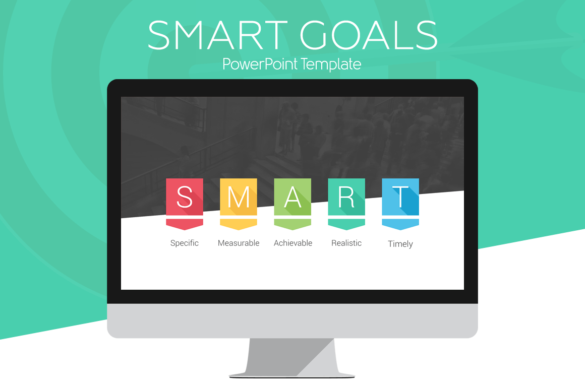 SMART Goals PowerPoint Infographic