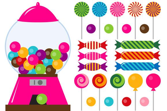 digital candies clip art illustrations