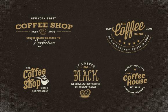 Vintage Coffee Shop logos  Logo Templates on Creative Market