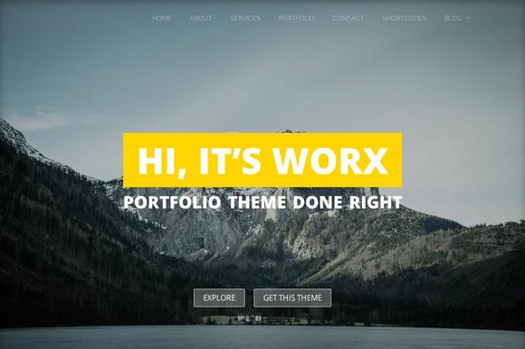 Worx - Portfolio WordPress Theme