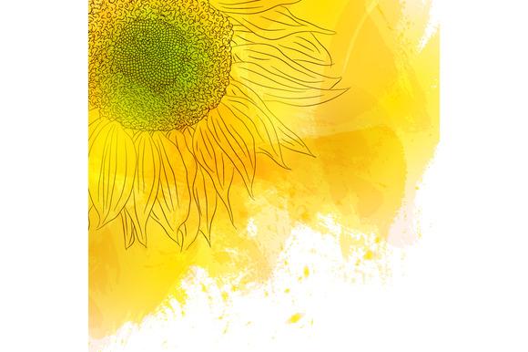 single sunflower background designtube