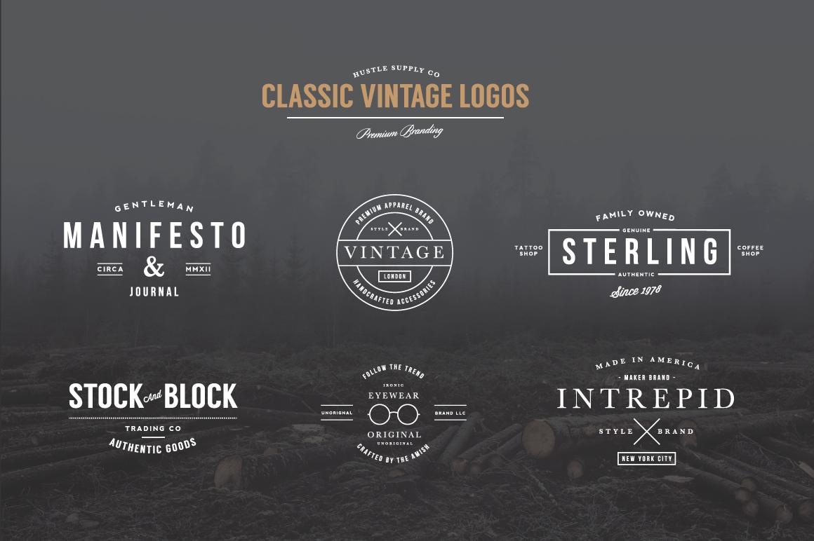 10 Off Vintage Logo Bundle Logo Templates On Creative