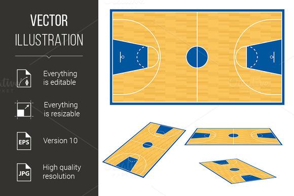 Wooden Basketball Court Floor Free Photoshop Textures