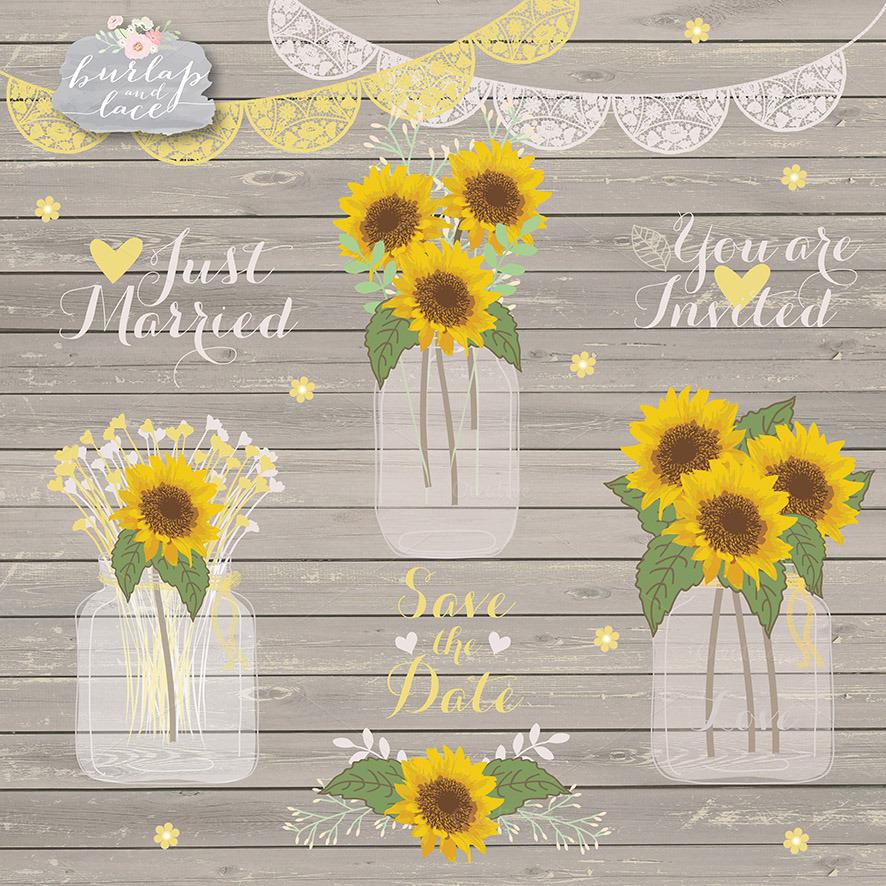 sunflowers clipart illustrations