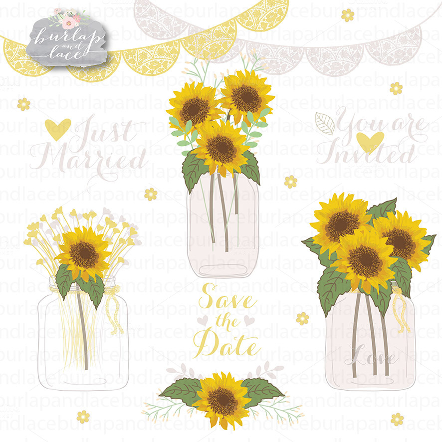 sunflower cliparts illustrations