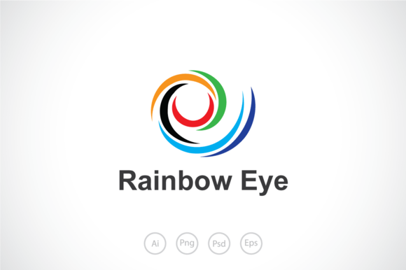 Free Word Template With Rainbow Background » Designtube
