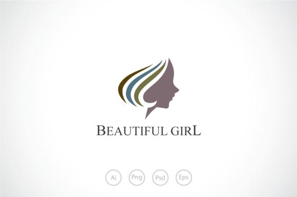 beautiful girl logo template