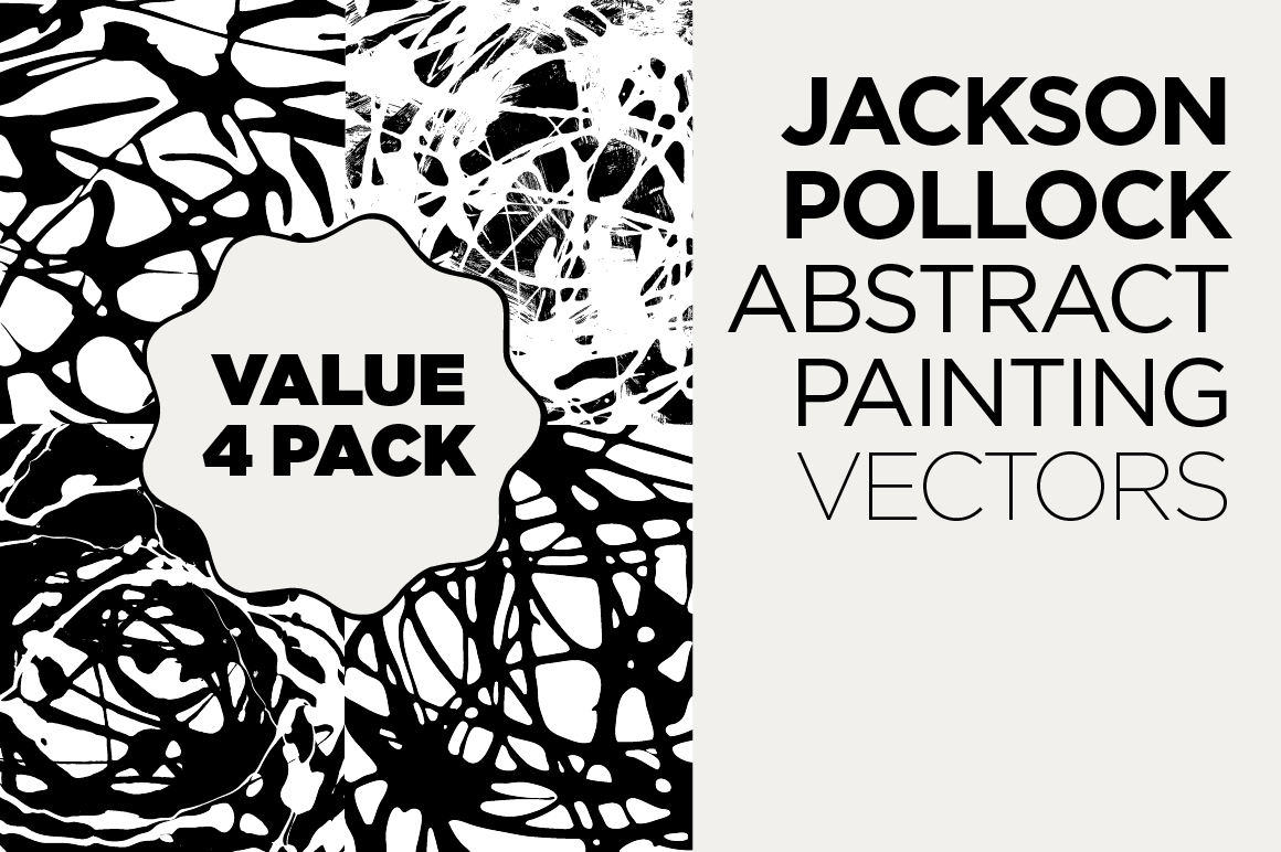 4 falten methode jackson pollock hilux wiring diagram abstract drip painting vector pack patterns on