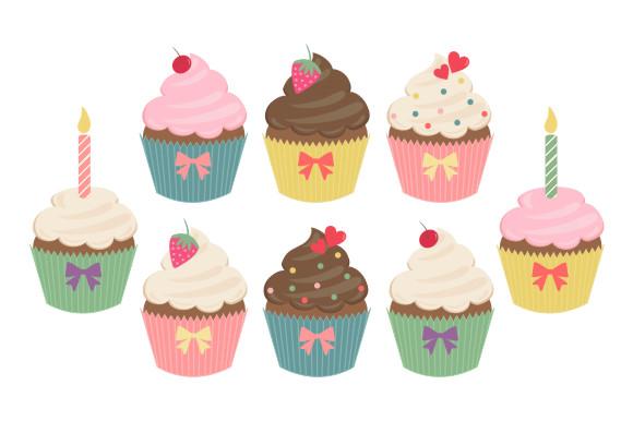 cupcakes clip art illustrations