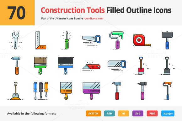 Cartoon Letters Made In Construction Tools  Designtube  Creative Design Content