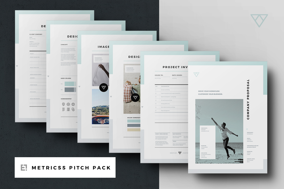 Proposal Pitch Pack  Brochure Templates on Creative Market