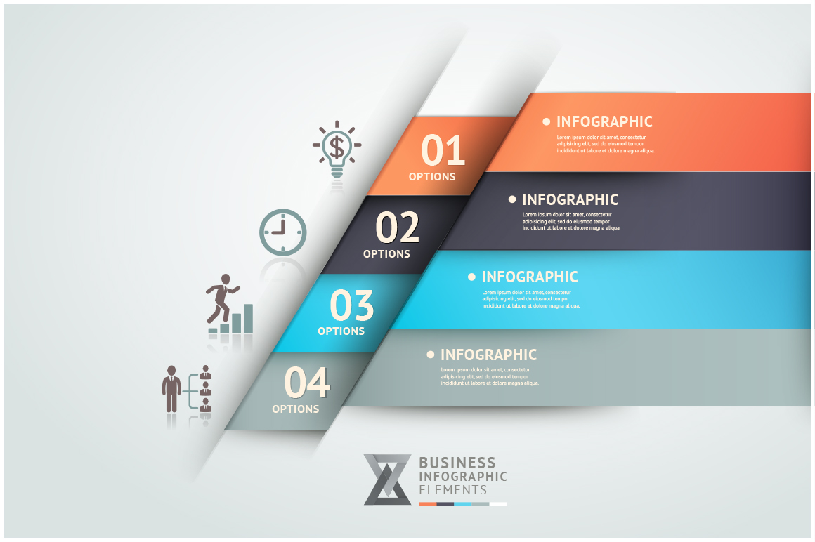 Infographics Origami Template Website Templates On Creative Market