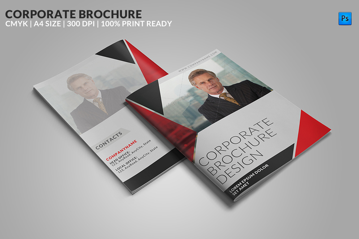 8 Page Corporate Bifold Brochure Brochure Templates On