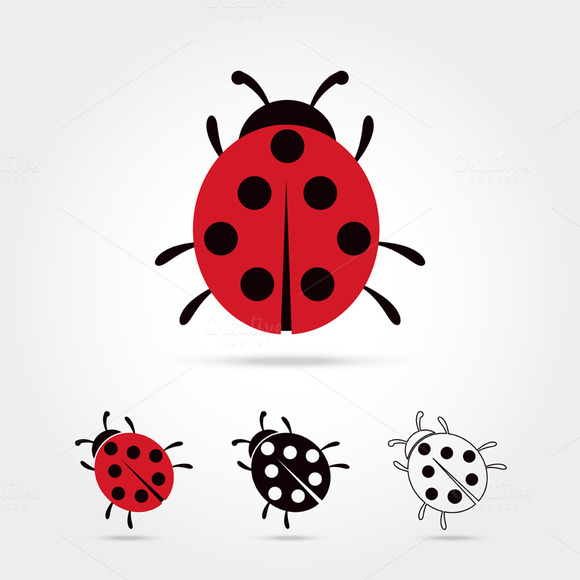 ladybug sitting leaf clip art
