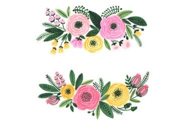 watercolor clipart flowers clip floral garden flower graphics wedding illustrations creative market pdeasyprint designs clipartix watercolour desde guardado parches related