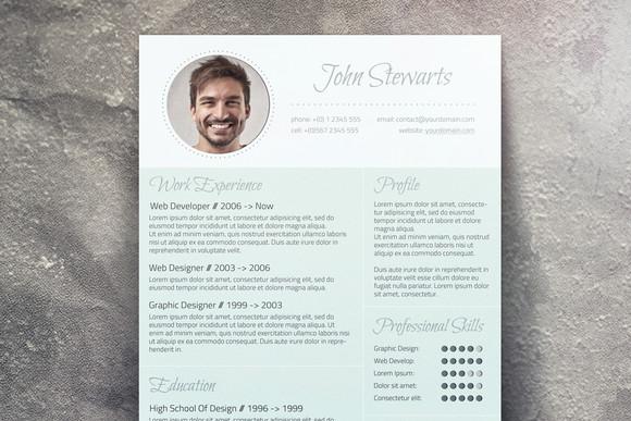 Fresh CV  Cover Letter  Resume Templates on Creative Market