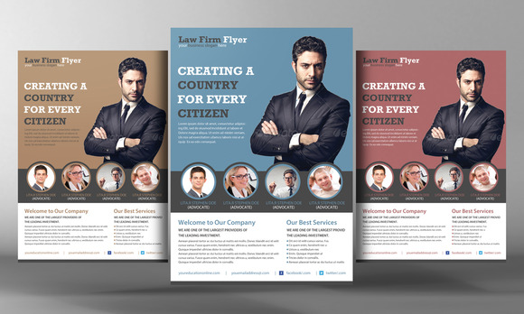 Law Firm Flyer Template Flyer Templates On Creative Market