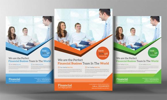 Financial Flyer Template Flyer Templates On Creative Market