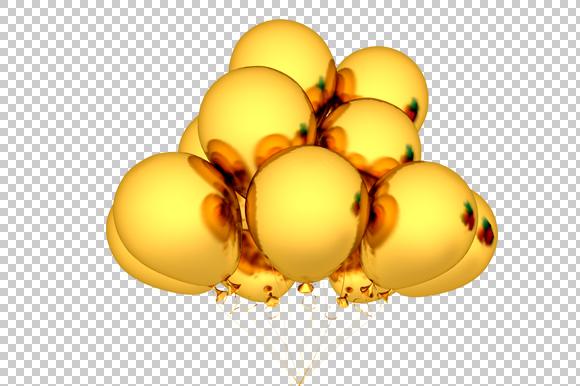 gold balloon - 3d render