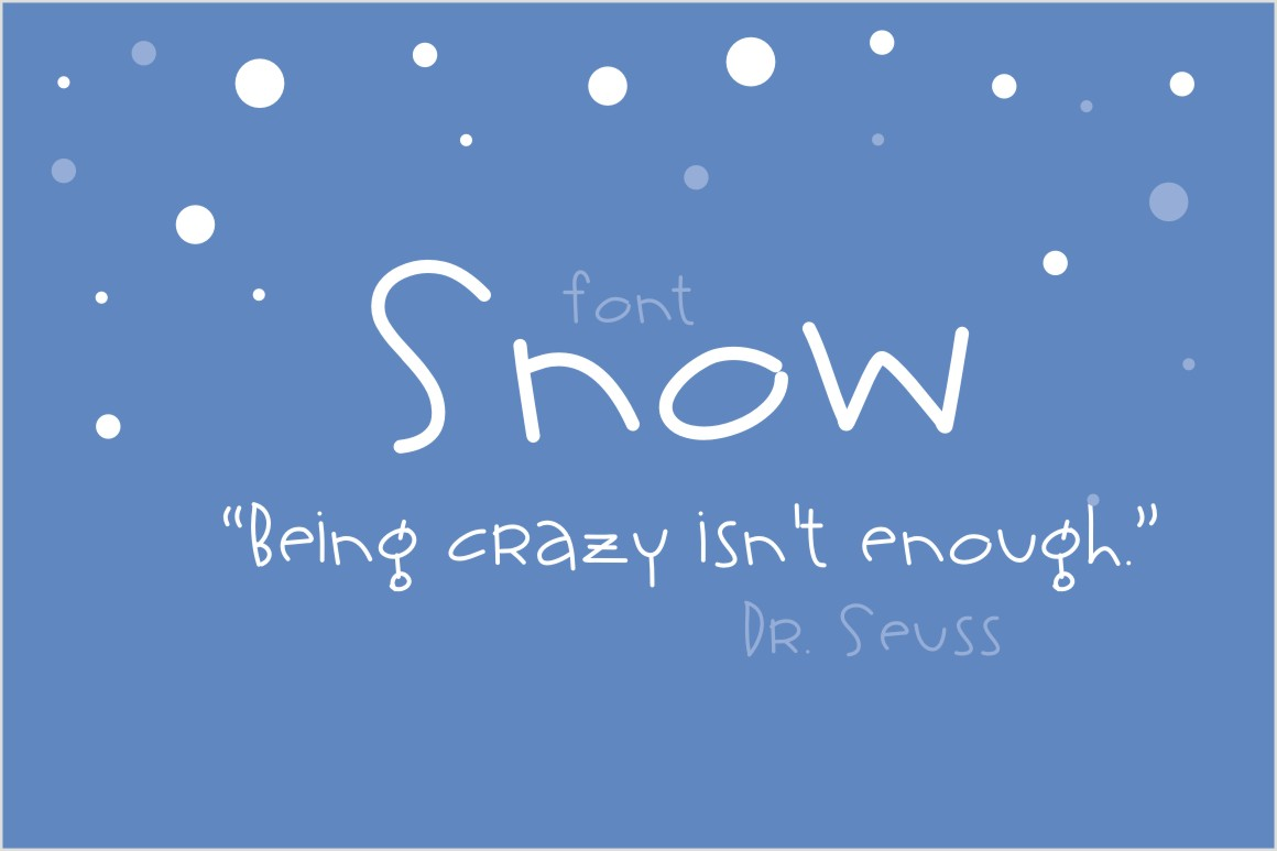 Snow Font Script Fonts On Creative Market